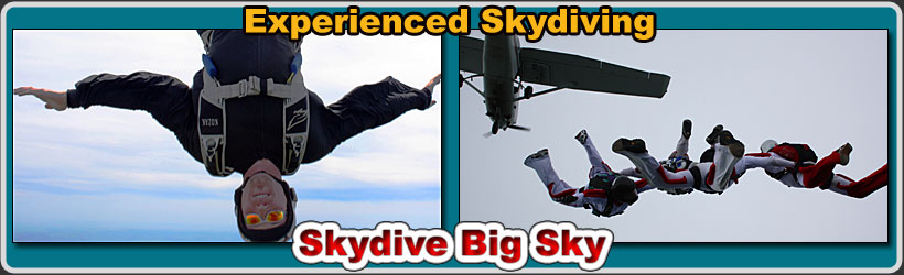 experienced skydiving